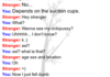 A normal conversation on Omegle