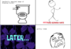 a tale of spiders and toilets